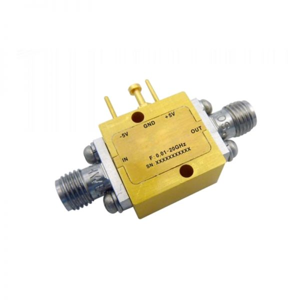 Ultra Wide Band Low Noise Amplifier From 0.01GHz to 20GHz With a Nominal 15dB Gain NF 2.5dB SMA-Female Connectors