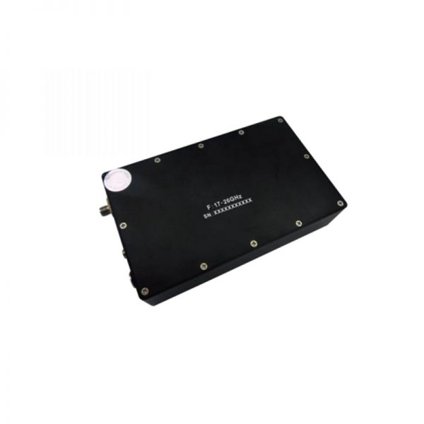 Ultra Wide Band Low Noise Amplifier From 17.2GHz to 26GHz With a Nominal 52dB Gain NF 2.5dB SMA-Female Connectors