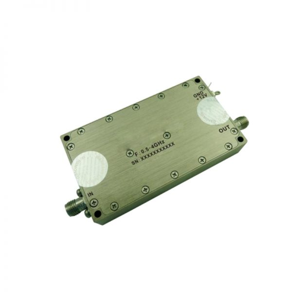 Ultra Wide Band Low Noise Amplifier From 0.5GHz to 4GHz With a Nominal 45dB Gain NF 0.8dB SMA-Female Connectors
