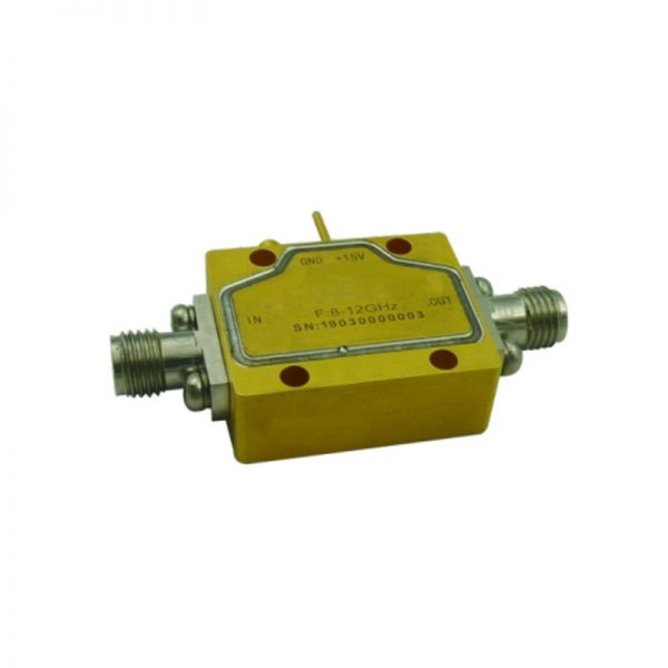 Ultra Wide Band Low Noise Amplifier From 8GHz to 12GHz With a Nominal 55dB Gain NF 1dB 2.92-Female Connectors