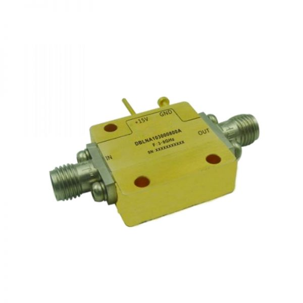 Ultra Wide Band Low Noise Amplifier From 3GHz to 8GHz With a Nominal 56dB Gain NF 0.8dB SMA Connectors