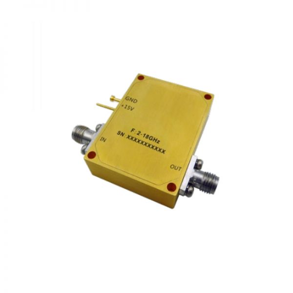 Ultra Wide Band Low Noise Amplifier From 2GHz to 18GHz With a Nominal 15.5dB Gain NF 5.5dB SMA-F Connectors