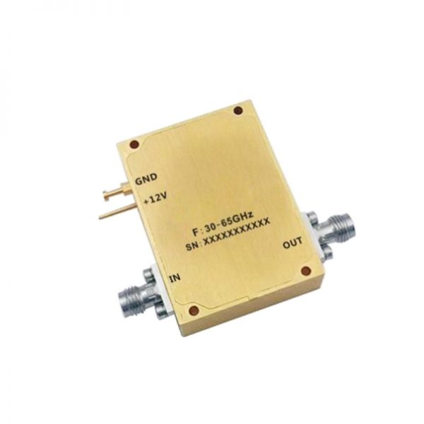 Ultra Wide Band Low Noise Amplifier From 30GHz to 65GHz With a Nominal 38dB Gain NF dB 1.85mm-F Connectors