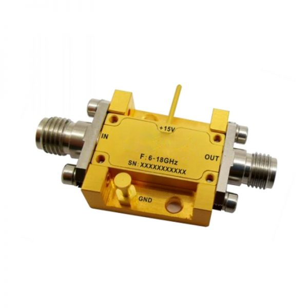 Ultra Wide Band Low Noise Amplifier From 6GHz to 18GHz With a Nominal 50dB Gain NF 1.5dB SMA-F Connectors