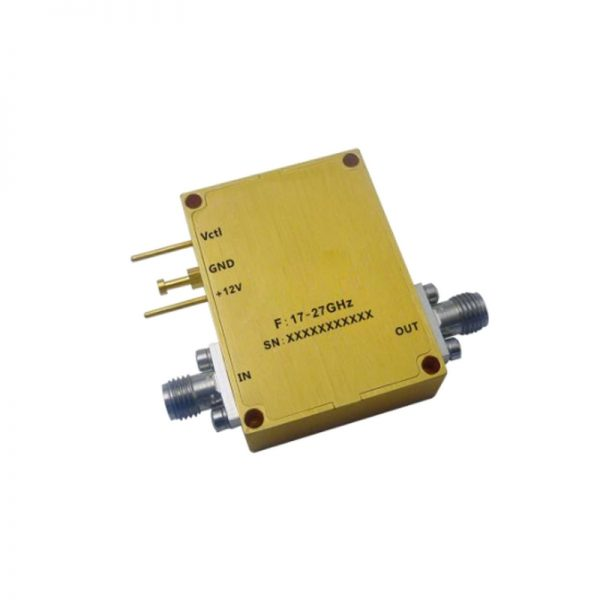 Ultra Wide Band Low Noise Amplifier From 17GHz to 27GHz With a Nominal 38dB Gain NF 2.5dB SMA Connectors