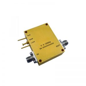 Ultra Wide Band Low Noise Amplifier From 5GHz to 12GHz With a Nominal 37dB Gain NF 1.8dB SMA Connectors