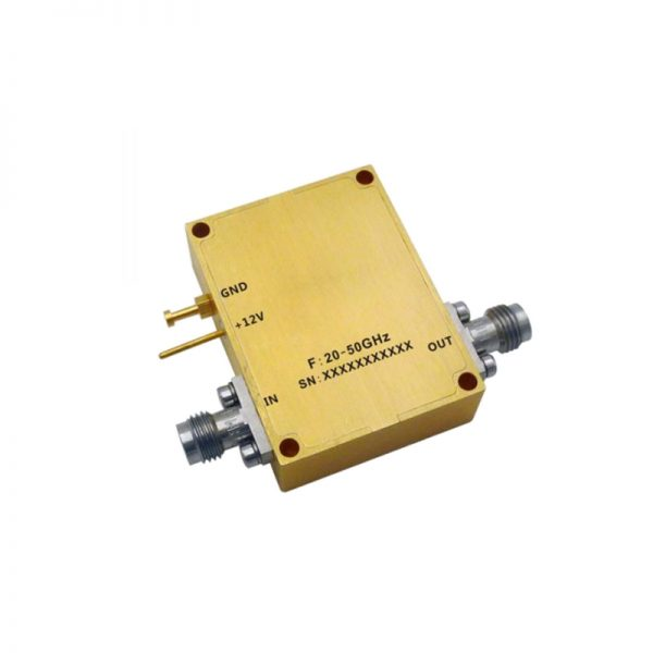 Ultra Wide Band Low Noise Amplifier From 20GHz to 50GHz With a Nominal 32dB Gain NF 2.5dB 2.4mm Connectors