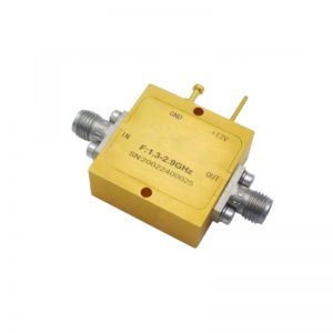 Ultra Wide Band Low Noise Amplifier From 1.3GHz to 2.9GHz With a Nominal 26dB Gain NF 1.8dB SMA Connectors