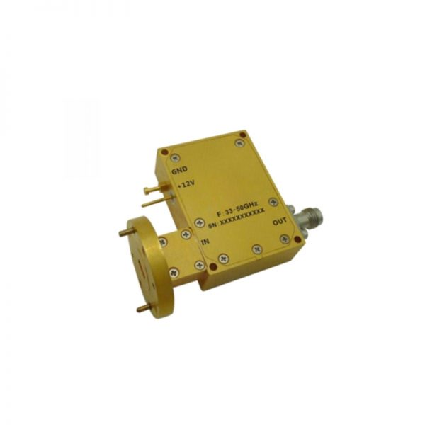 Ultra Wide Band Low Noise Amplifier From 33GHz to 50GHz With a Nominal 48dB Gain NF 2.5dB WR22/2.4mm Connectors