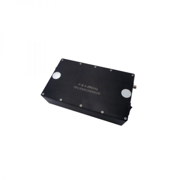 Ultra Wide Band Low Noise Amplifier From 0.5GHz to 20GHz With a Nominal 58dB Gain NF 3.5dB SMA Connectors
