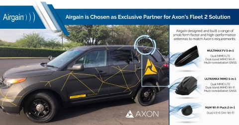 Axon Selects Airgain as an Antenna Partner for its In-car Video System