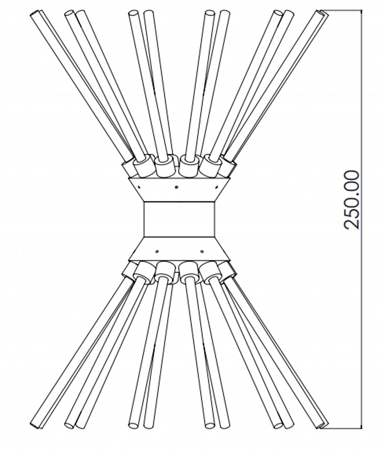 Biconical Antenna 30 MHz to 300 MHz for EMI/EMC Testing 200W