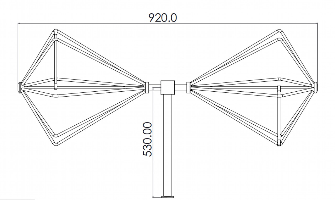 Biconical Antenna 45 MHz to 450 MHz for EMI/EMC Testing