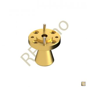 WR-141 - Circular Waveguide - V Band - Conical Horn Antenna
