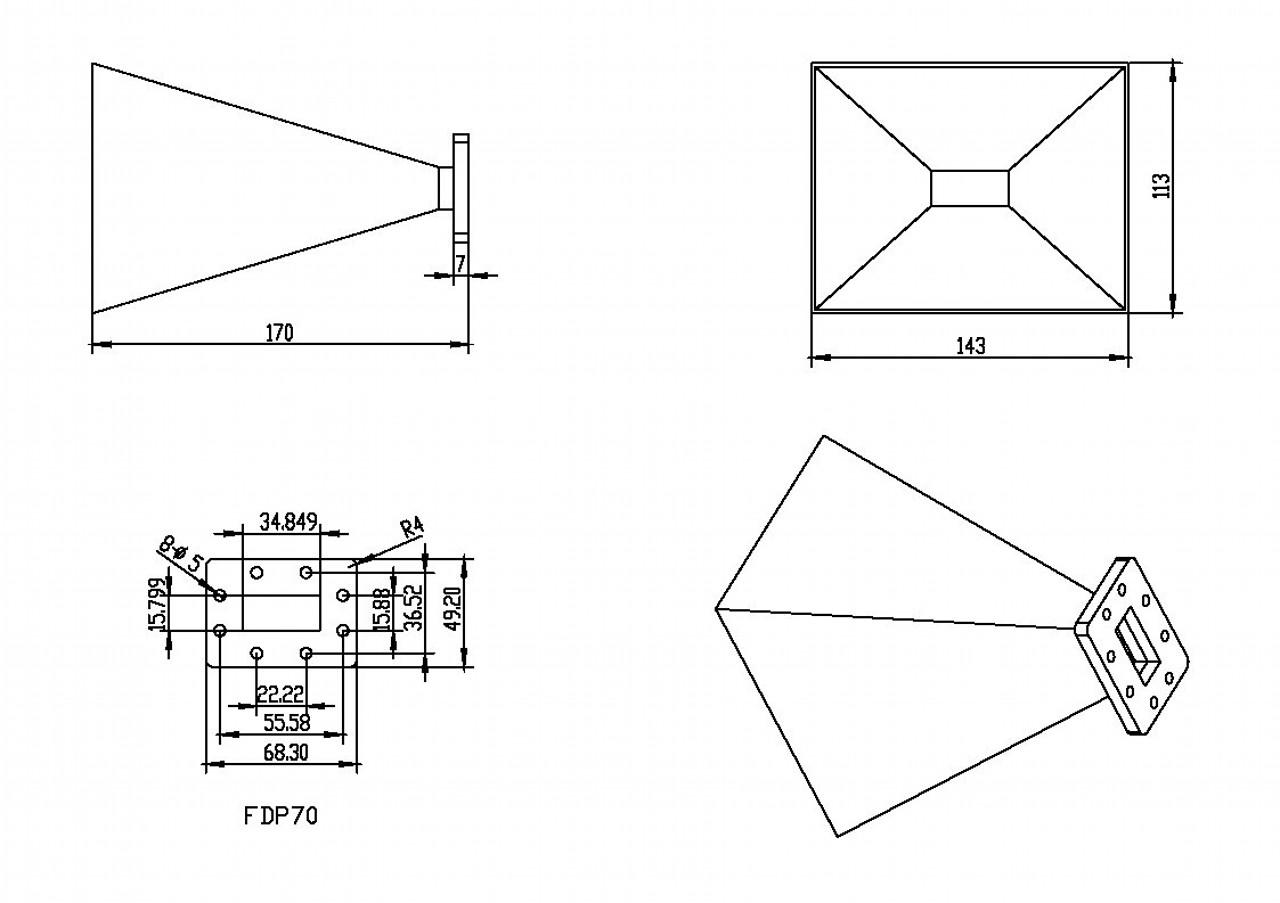 WR-137 Waveguide - Standard Gain Horn Antenna