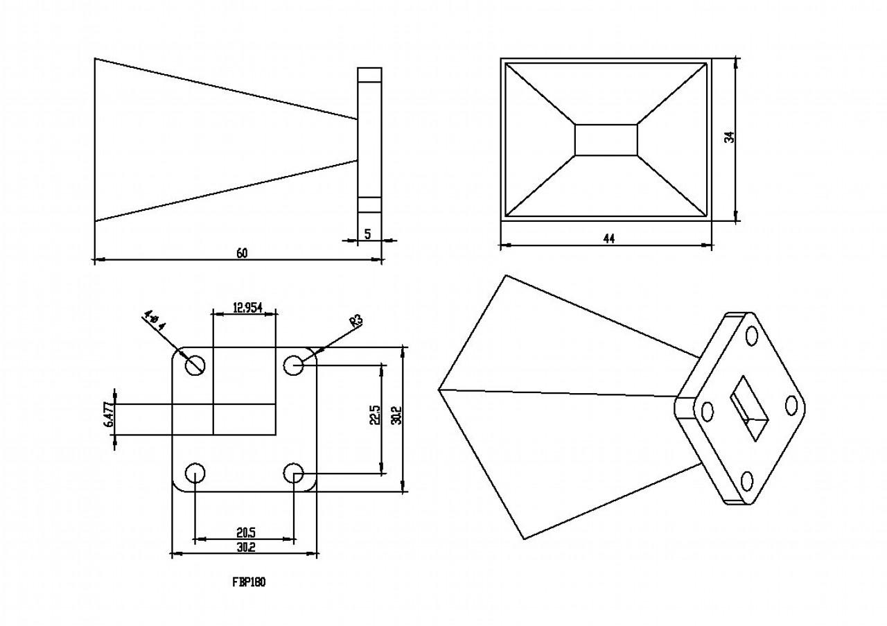 WR-51 Waveguide - Standard Gain Horn Antenna