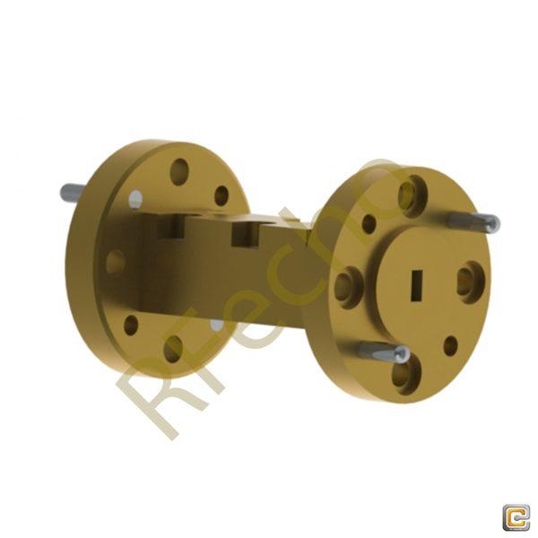 51GHz to 55GHz V Band Waveguide Bandpass Filter, RF Passive Bandpass Filter