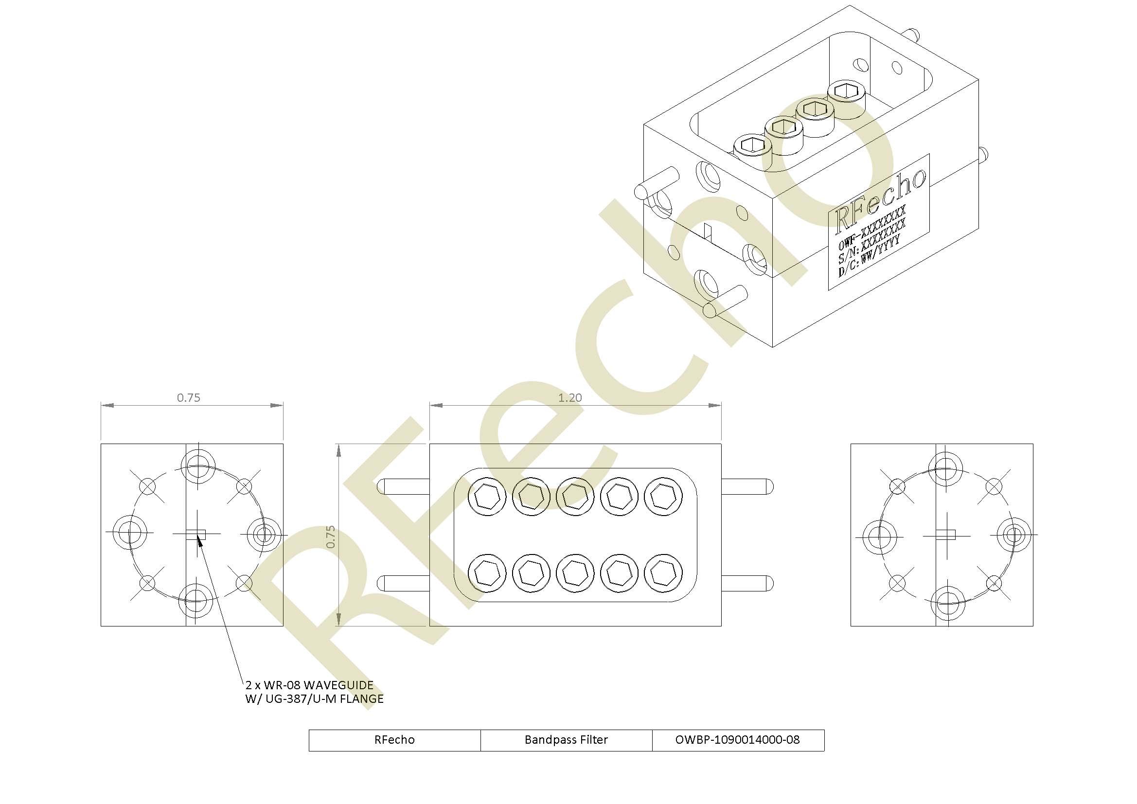 RF Filter Bandpass OWBP-1090014000-08