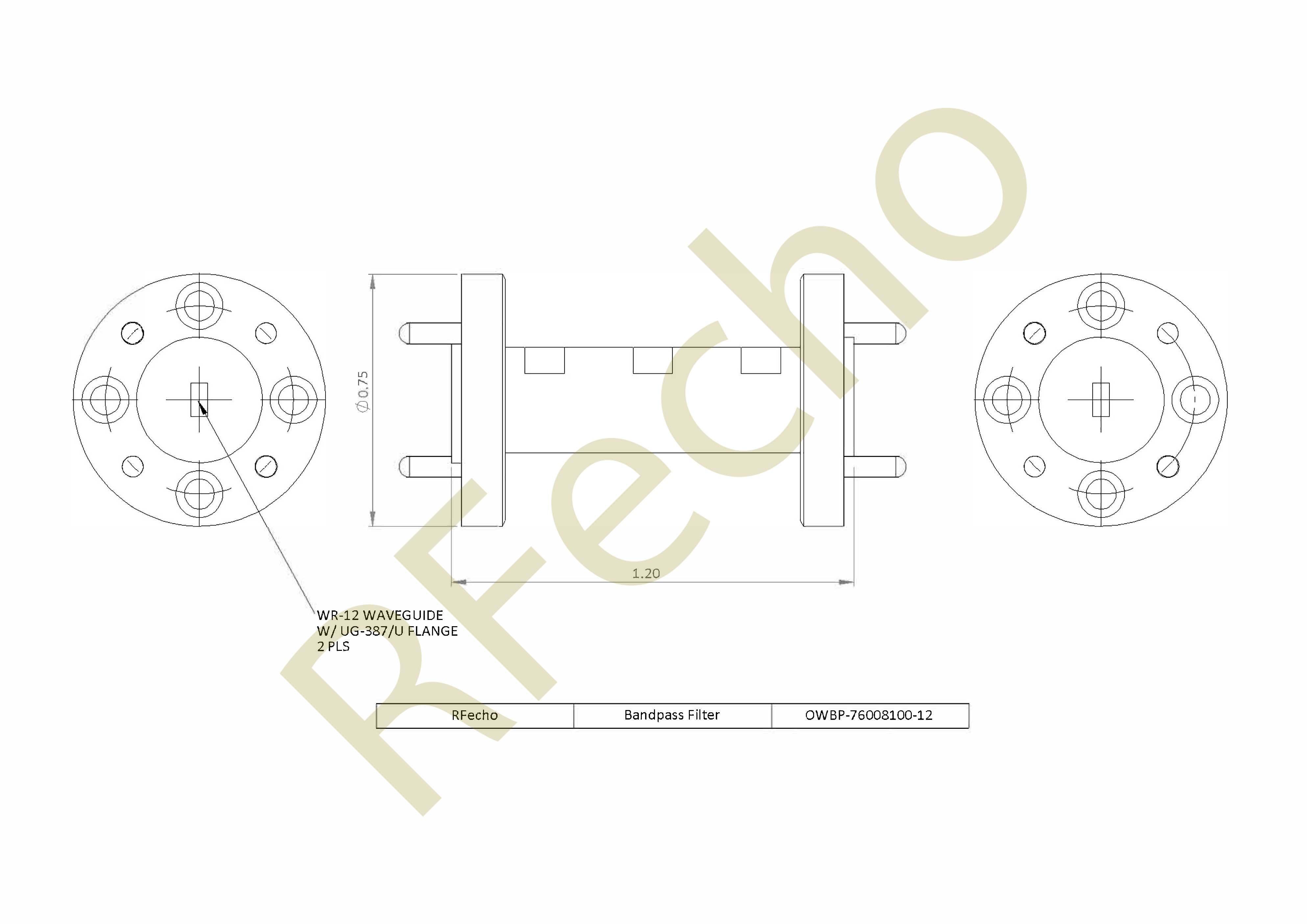 RF Filter Bandpass OWBP-76008100-12