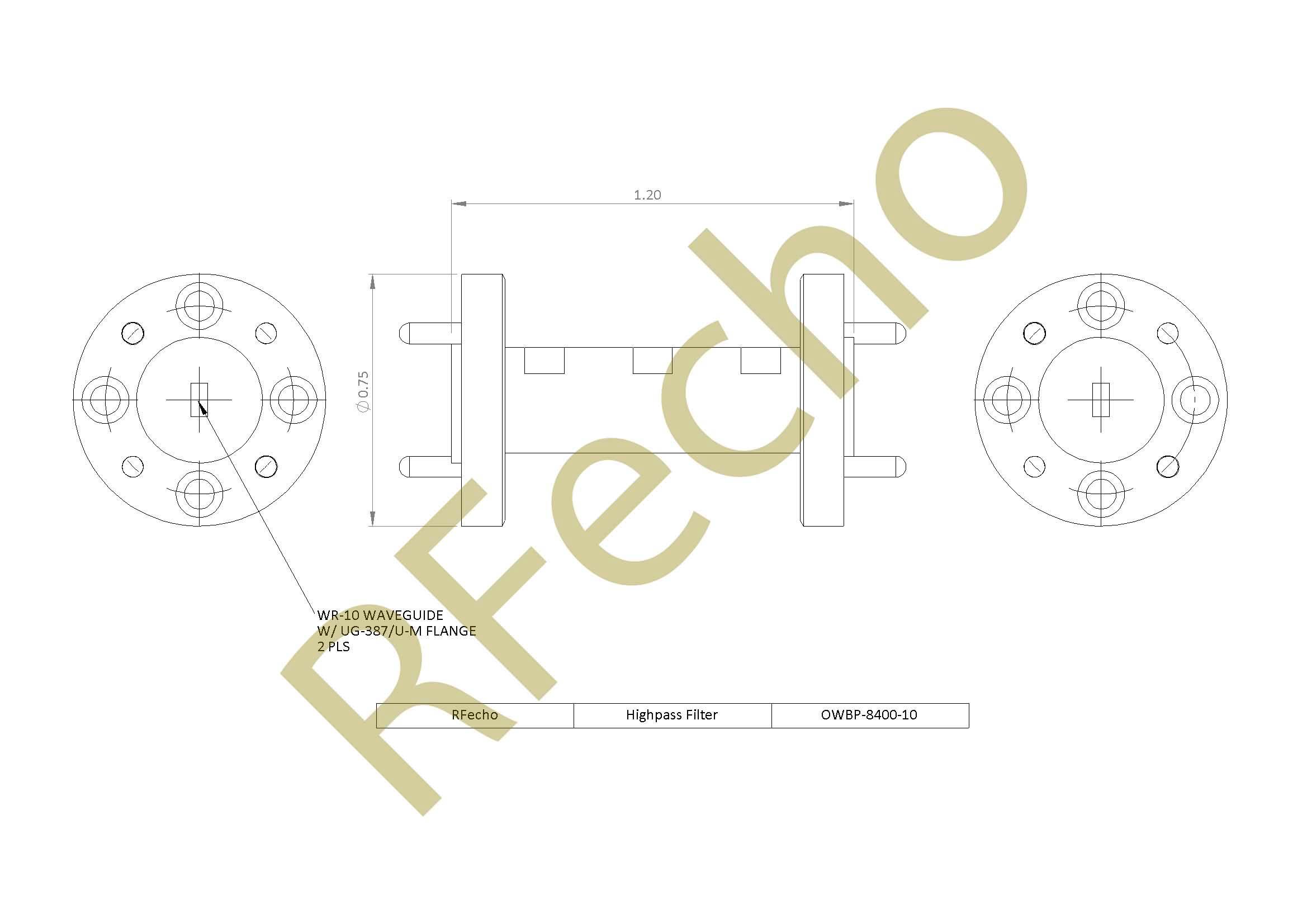 RF Filter Highpass OWBP-8400-10