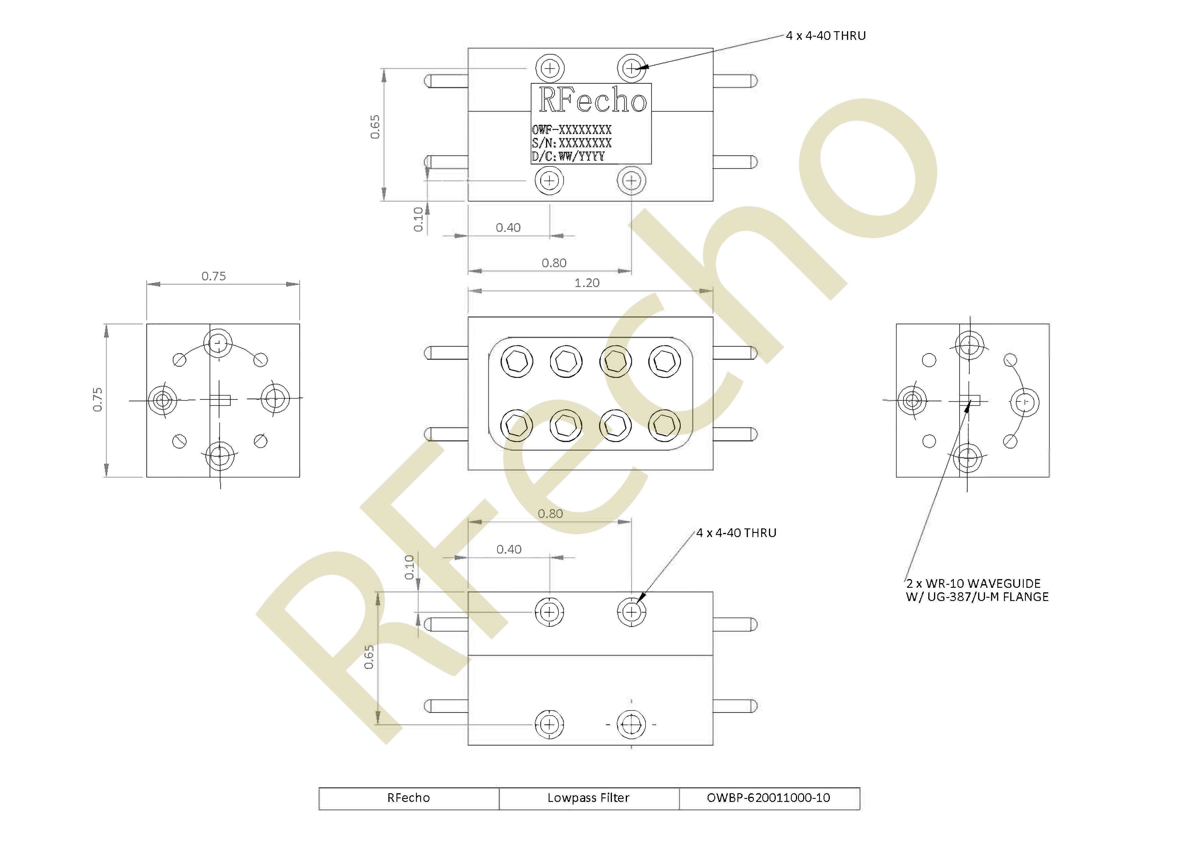 RF Filter Lowpass OWBP-620011000-10