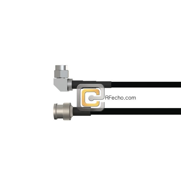 Right Angle SMA Male to BNC Male LMR-240 Coax and RoHS F047-321R0-221S0-40-N