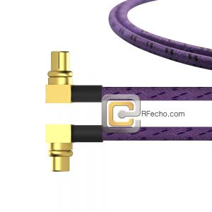 Right Angle MMCX Plug to Right Angle SMP Female