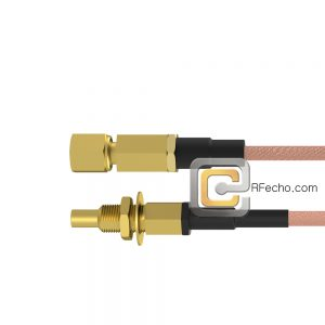 SSMC Jack Bulkhead to SSMC Plug RG178 Coax and RoHS F074-380S1-381S0-30-N