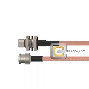 BNC Male to BMA Plug Bulkhead RG-316 Coax and RoHS F065-221S0-211S1-30-N