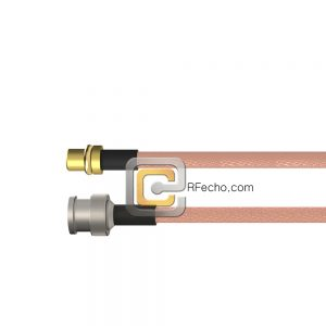 BNC Male to MMCX Plug RG-316 Coax and RoHS F065-221S0-271S0-30-N
