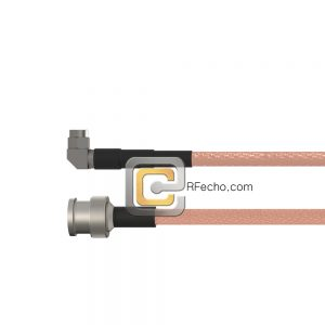 BNC Male to Right Angle SMA Male RG-316 Coax and RoHS F065-221S0-321R0-30-N