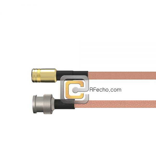 BNC Male to SMB Plug RG-316 Coax and RoHS F065-221S0-331S0-30-N