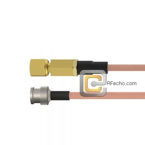 BNC Male to SSMC Plug RG-316 Coax and RoHS F065-221S0-381S0-30-N