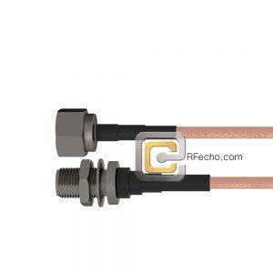 N Female Bulkhead to N Male RG-316 Coax and RoHS F065-290S1-291S0-30-N