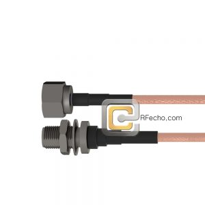 N Male to N Female Bulkhead RG-316 Coax and RoHS F065-291S0-290S1-30-N