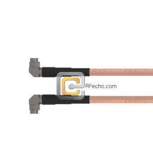 Right Angle SMA Male to Right Angle SMA Male RG-316 Coax and RoHS F065-321R0-321R0-30-N