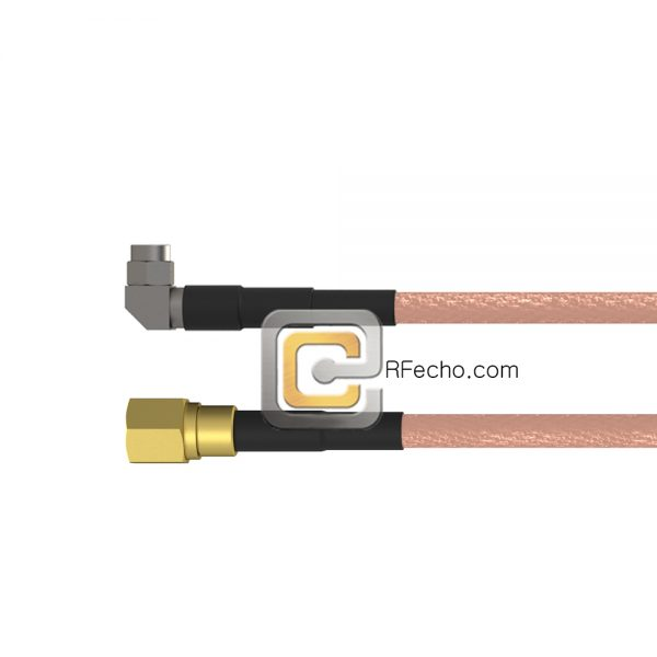 Right Angle SMA Male to SMC Plug RG-316 Coax and RoHS F065-321R0-341S0-30-N
