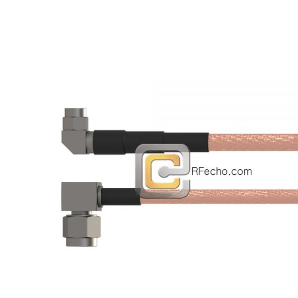 Right Angle SMA Male to Right Angle SSMA Male RG-316 Coax and RoHS F065-321R0-361R0-30-N