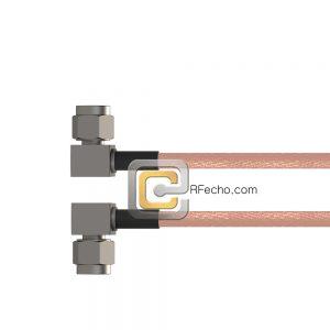 Right Angle SSMA Male to Right Angle SSMA Male RG-316 Coax and RoHS F065-361R0-361R0-30-N