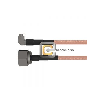 Right Angle SMA Male to N Male RG-58 Coax and RoHS F070-321R0-291S0-50-N