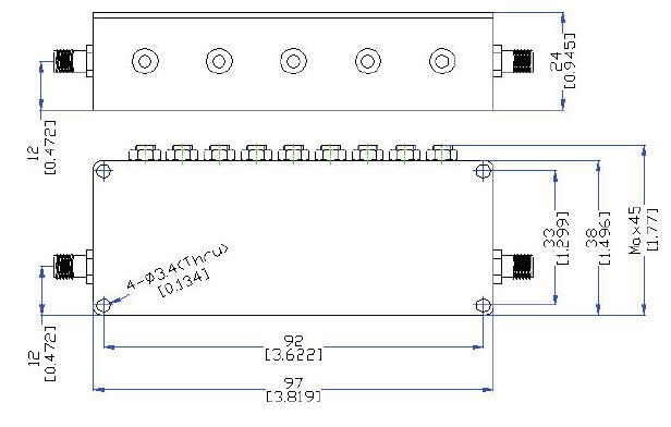 OBP 1400 30 outline Cavity Band Pass OBP-1400-30