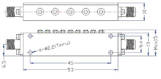 OBP 7883 10 outline Cavity Band Pass OBP-7883-10