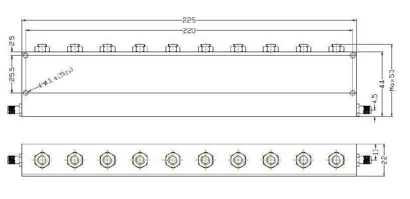 OBR 1842 75 outline Cavity Band Rejection Filter OBR-1842-75