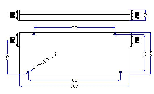 1.0 GHz to 6 GHz Rejection ≥60 dB @ DC - 0.86 GHz High Pass Cavity Filter 01