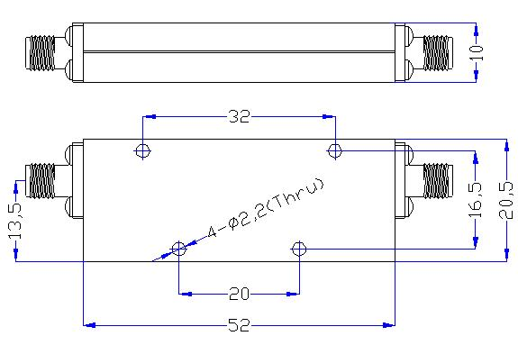 1.25 GHz to 12 GHz Rejection ≥50 dB @ DC -0.98 GHz High Pass Cavity Filter 01