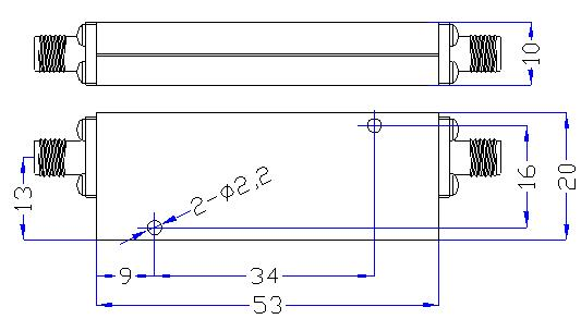 1.4 GHz to 13 GHz Rejection ≥60 dB @ DC -1.0 GHz High Pass Cavity Filter 01