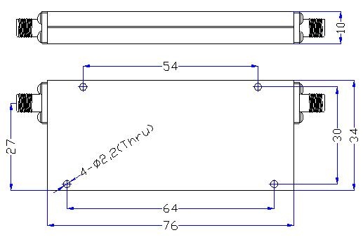 1.5 GHz to 8 GHz Rejection ≥60 dB @ DC -1.28 GHz High Pass Cavity Filter 01