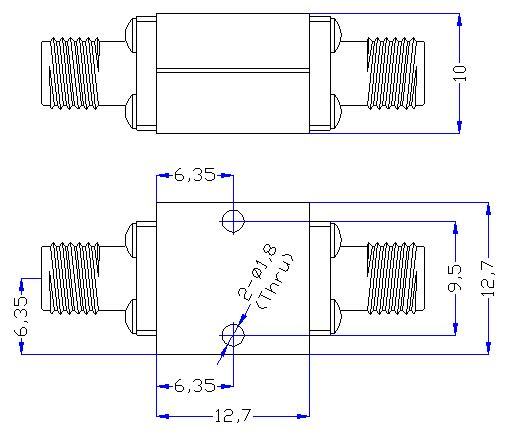 18.0 GHz to 28 GHz Rejection ≥50 dB @ DC - 15 GHz High Pass Cavity Filter 01