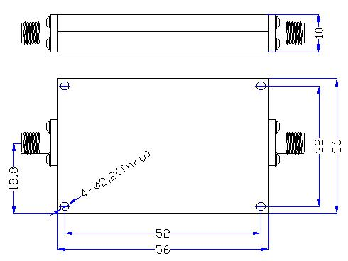 2.0 GHz to 13 GHz Rejection ≥60 dB @ DC -1.7 GHz High Pass Cavity Filter 01