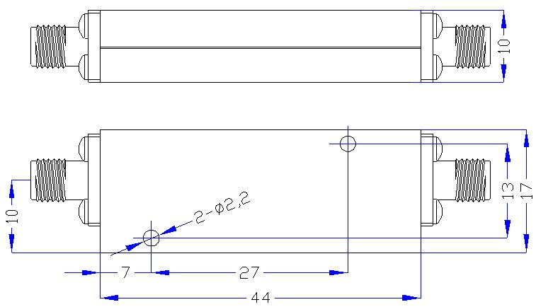 2.0 GHz to 18 GHz Rejection ≥50 dB @ DC-1.5 GHz High Pass Cavity Filter 01